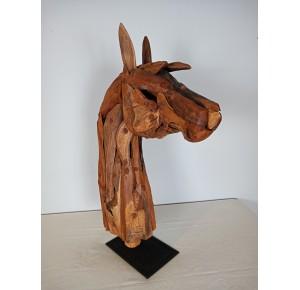 Cabeza caballo madera